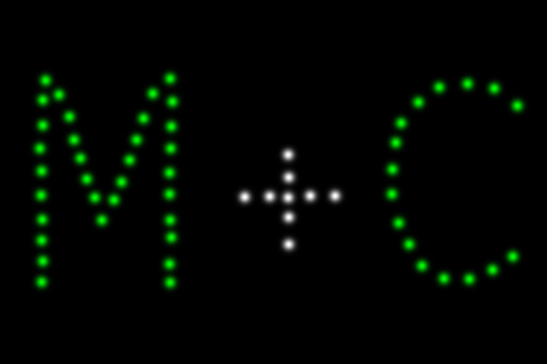 artikelansicht easybox lichterbild 2 buchstaben mit +